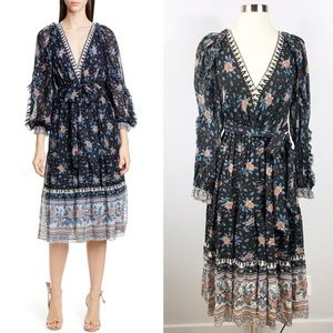 NWT✨ULLA JOHNSON Romilly Silk Jacquard Dress 2